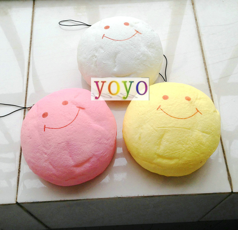 restock 3 colors Jumbo smile marshmallow bun squishy phone charm free shipping