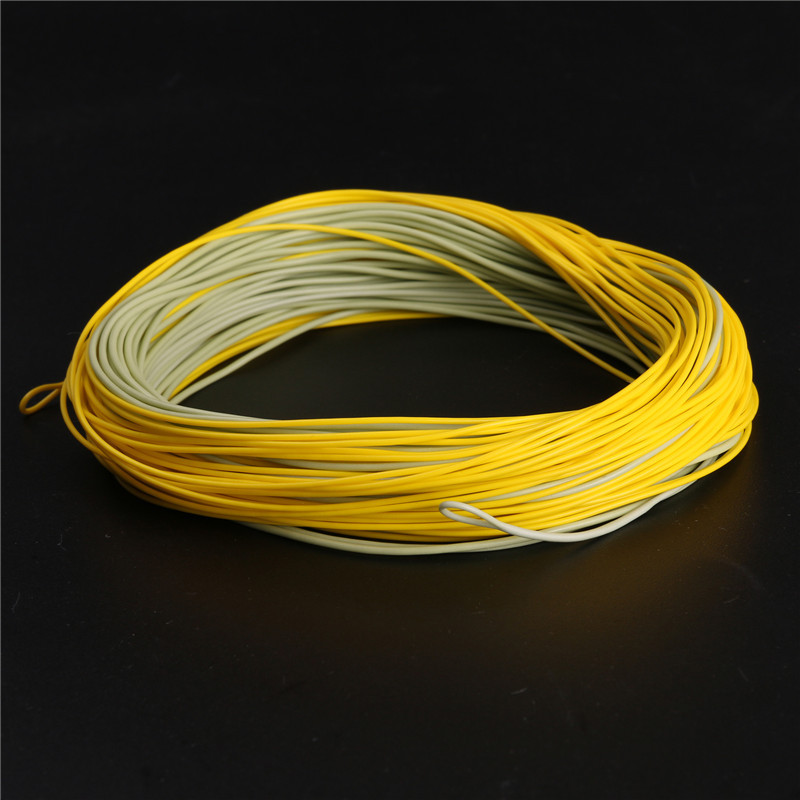 Real gold weight forward floating fly fishing line with for Floating fishing line