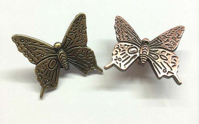 Antique Bronze Kitchen Cabinet Knobs Pulls Handles Decorative Furniture Knob Pull Cute cartoon butterfly knobs for children room(China (Mainland))