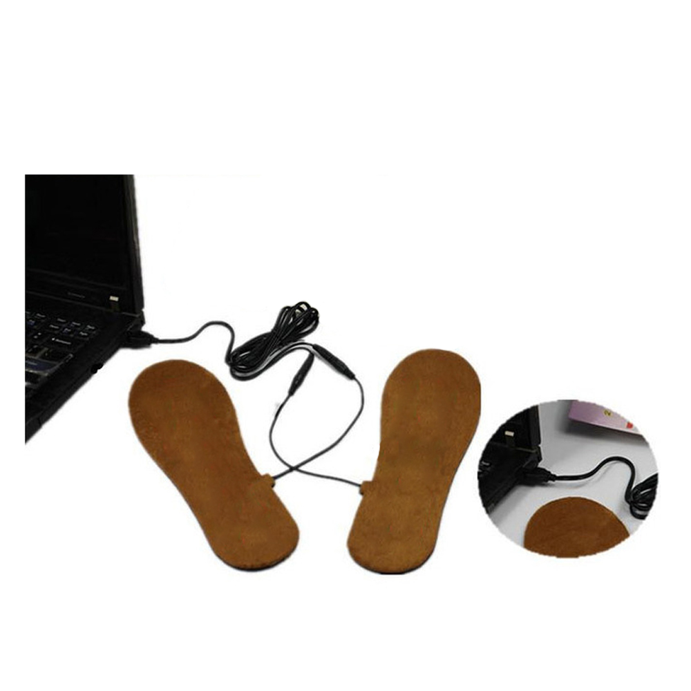 Powered HOT Electronic Heated Insoles Powered USB For Man/Women Shoes Boots Feet Care Outdoors(China (Mainland))