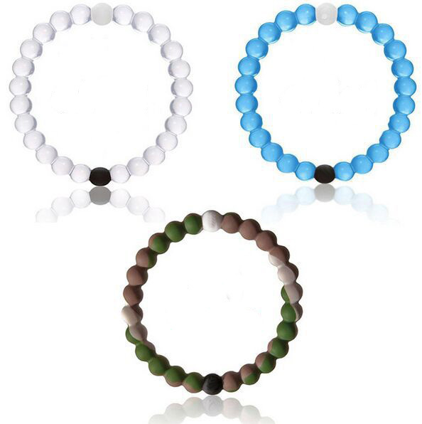 2015 hot top quality lo,kai sillicone wild bead friendship bracelets & bangles for women and men summer jewelry(China (Mainland))