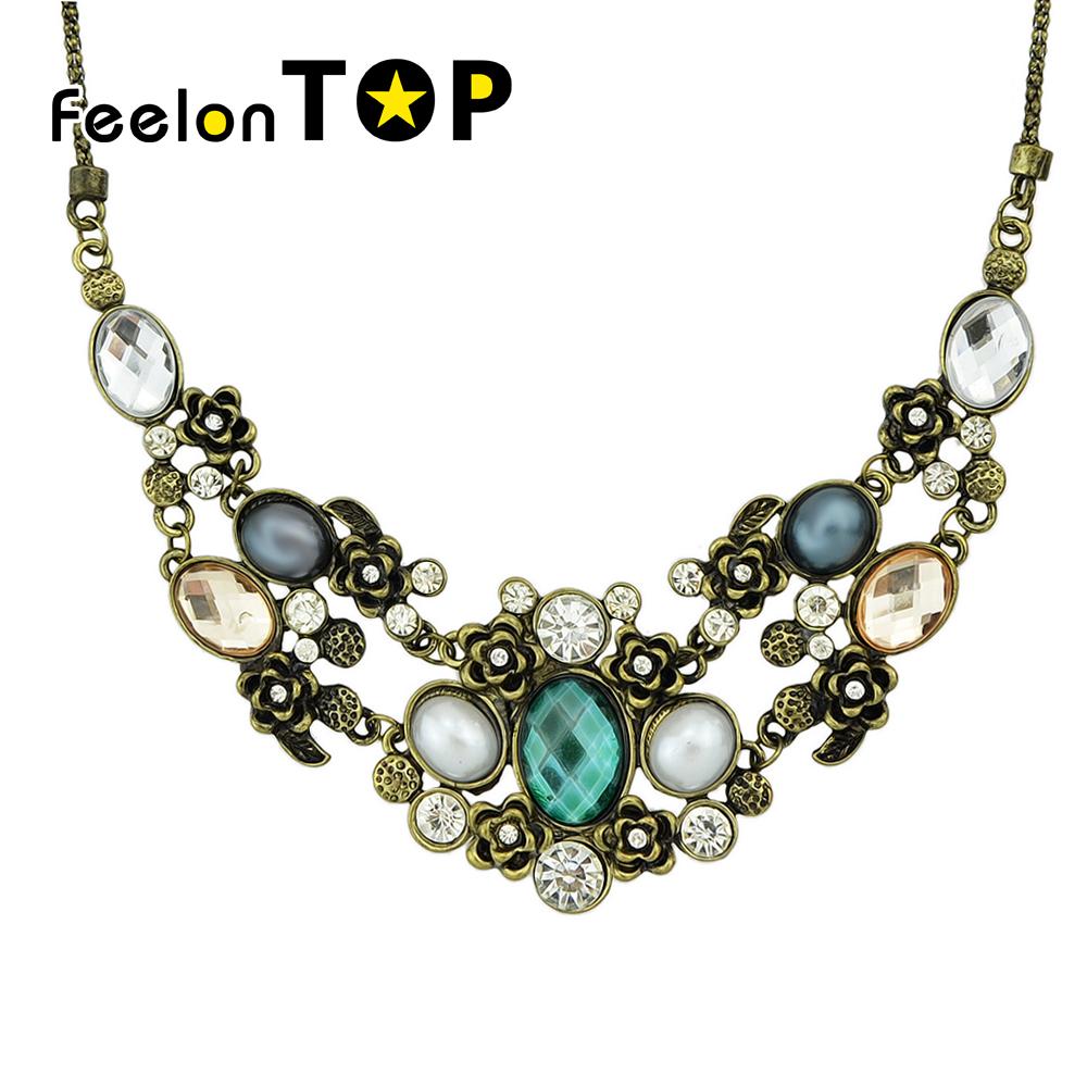 New Wholesale Costume Jewelry Vintage Graceful Rhinestone Necklace For Women(China (Mainland))