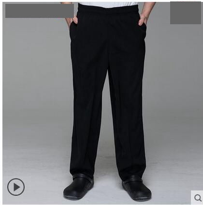 Chefs Work Pants Restaurant Waiter Overalls Hotel Uniform Pants Black Pants of The Chef Uniform Pants Man In The Kitchen(China (Mainland))