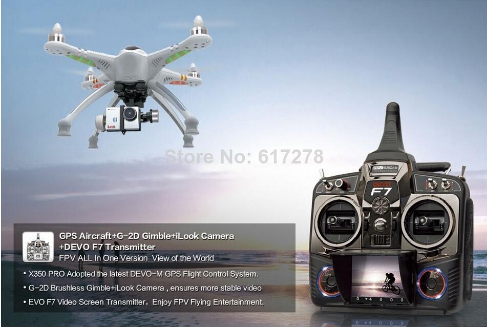 Newest Walkera QR X350 Pro RTF Fpv drone with ilook plus HD camera quadcopter PK dji