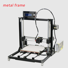 High quality 3D Printer Rostock Mini 3D Printer DIY Kit ABS PLA filament printer with 8GB SD card LCD one roll Filament for Free