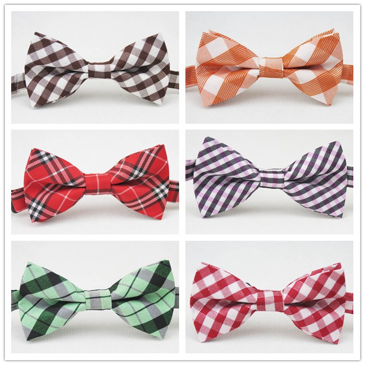 The new 2014 children bowtie/Bright silver silk cotton/20 kinds of style colorful stripe grid desgin/little baby bowknot(China (Mainland))