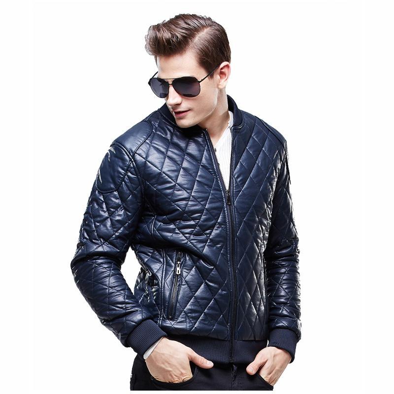 Achetez en Gros mens veste en cuir matelassé en Ligne à ...