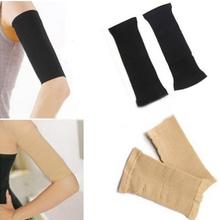 Hot Sale Arm Shaper Women Fat Burning Thin Arm Elastic Sleeve Armband Arm Warmers Black Beige Colors HB-0222(China (Mainland))