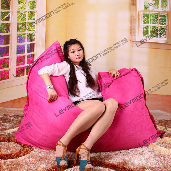 FREE SHIPPING 140*180CM rose bean bag chairs cover bean bag luxury suede bean bag covers large bean bag chair(China (Mainland))