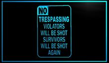 Buy NO TRESPASSING vintage home decoration Beer NR Bar Pub Club LED Neon Light Sign vintage home decor for $12.60 in AliExpress store