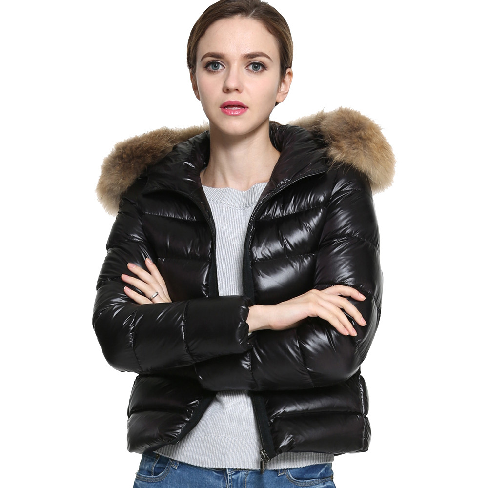 Popular Black Padded Hooded Coat Ladies-Buy Cheap Black Padded