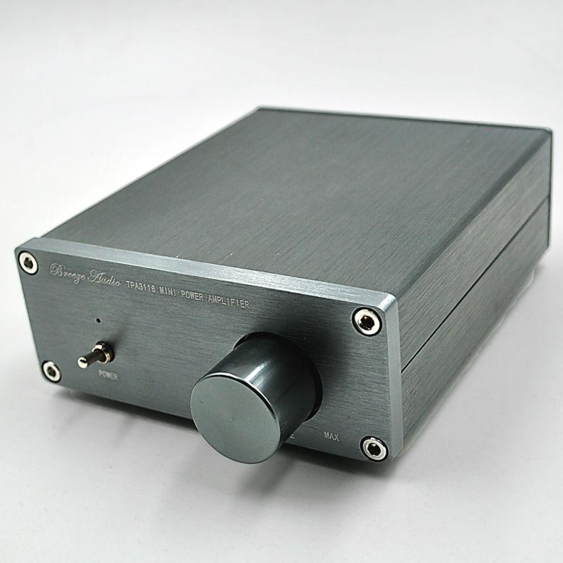 2016 Breeze Audio HiFi Class 2.0 Audio Stereo Digital Power Amplifier TPA3116 Advanced 50W+50W Mini Home Aluminum Enclosure amp(China (Mainland))