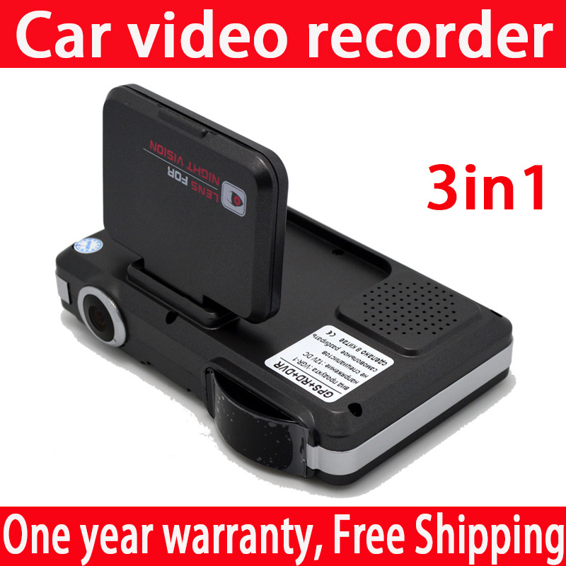 Car Camera /Car video recorder /Car radar speed measuring /GPS Vehicle traveling data recorder Universal Only Russian 3in1(China (Mainland))