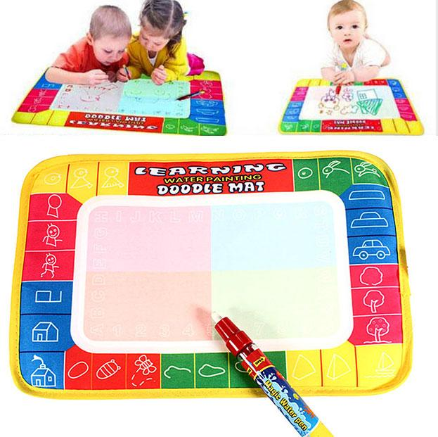 2016 hot new Water Drawing Painting Doodle Aquadoodle Mat Board & Pen Kids Children baby Toys for boys and girls(China (Mainland))