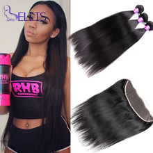 Best Selling Peruvian Straight Virgin Hair With Closure 3 Bundles Straight Hair With 13×4 Full Lace Frontal Human Hair Closure