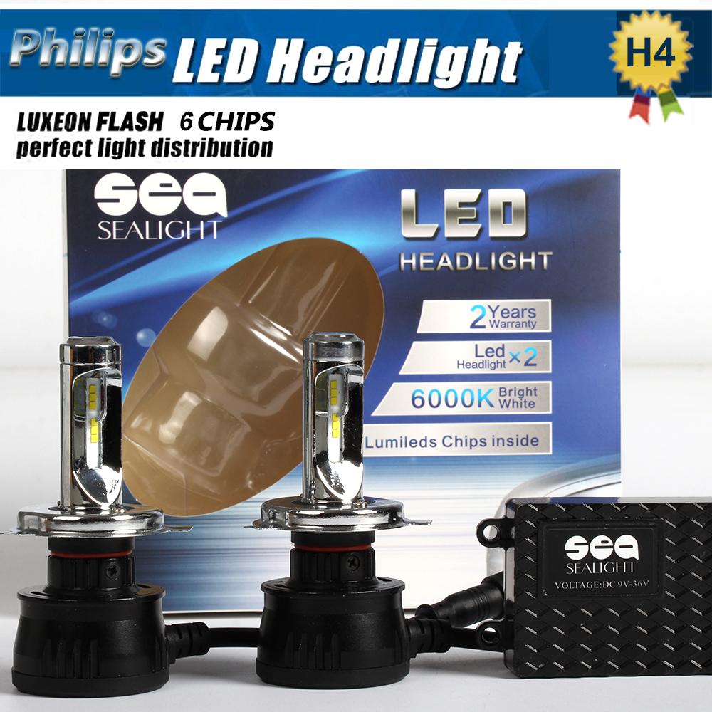 1xPair 90W 10800LM P Hilips LED Headlight H1 H3 H4 H7 H8 H9 H11 9003 9005 9006 9012 9004 9007 H13 Car LED Headlight Bulbs(China (Mainland))
