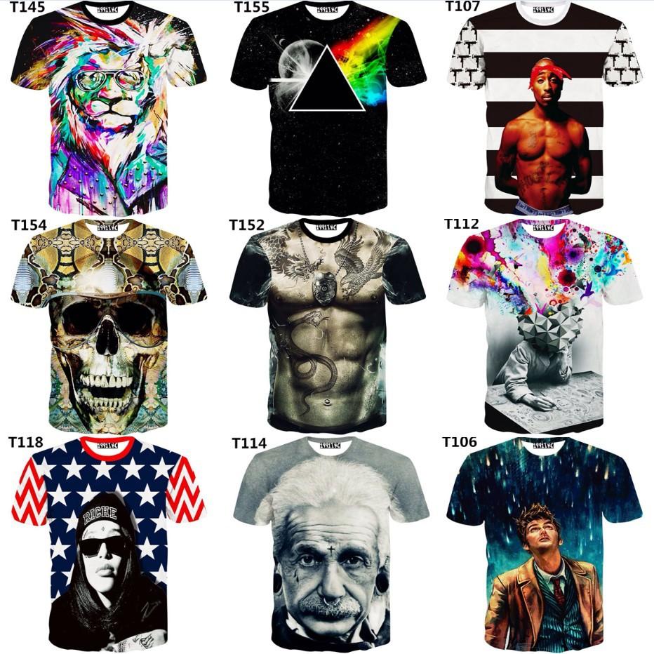 Magic Newest style 3d t shirt men tshirt both side print good quality men s