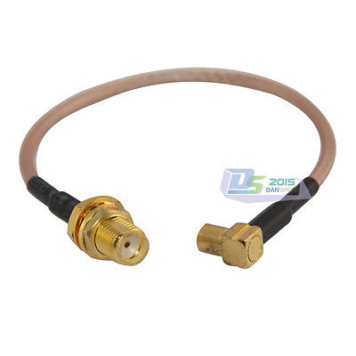 15cm SMA female nut bulkhead to MCX right angle jack Jumper Cable RG316 pigtail(China (Mainland))