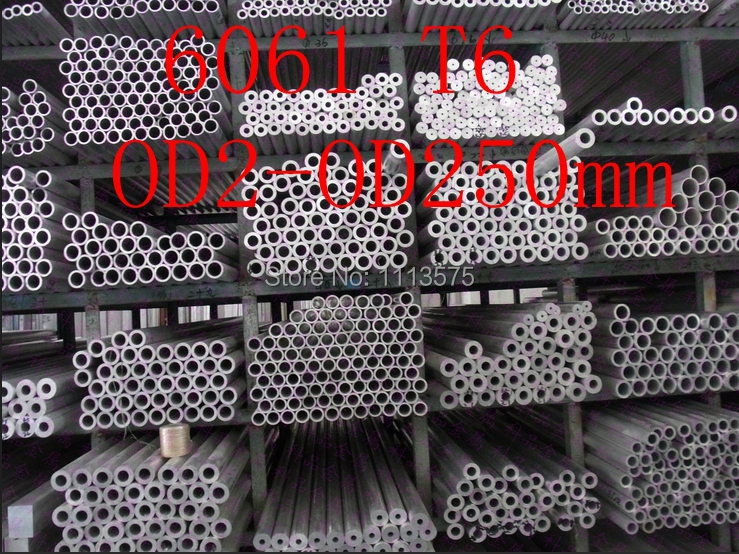 OD2-OD250mm 6061 T6 Al aluminium thick wall precision industry tube pipe(China (Mainland))