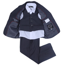 NEW ARRIVAL FREE SHIPPING TODDLER BOYS DRESS BLAZER JACKET SUIT THREE-PIECES BOYS FORMAL SUITS CHILD CLOTHES(China (Mainland))