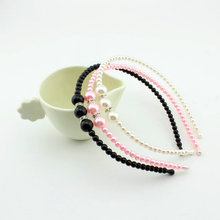1 pieces fashion Korean Style Princess pearl with rhinestone Hair bands kids Girl pearl Headbands children Hair Accessories(China (Mainland))