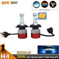 Pair 36W LED Headlight Car Headlamp Auto Conversion COB Kit CSP h7 h8 h9 h11 9005