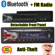New Car Radio bluetooth Detachable front panel Seperable front panel 1-Din Stereo FM USB/SD AUX Audio MP3 Player in Dash (China (Mainland))