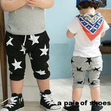 Hot sales size100~140 summer children pants for boys trousers child harem pants  star grey black kids(China (Mainland))