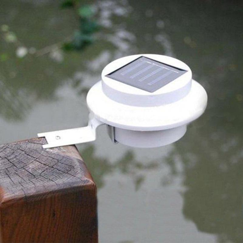 3 LED Solar Powered Fence Gutter Light Novelty Lighting Garden Wall Lobby Pathway Sola Lamp(China (Mainland))