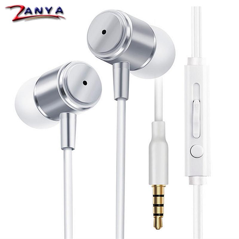 MP3 Music Player Earphone Stereo Metal Earphones Volume Control Telephone Answer for iPhone 6 Plus 6s Android 3.5mm Jack Headset(China (Mainland))