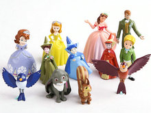 12pcs/set New Sofia the first PVC Figure Toys Princess Sofia PVC Doll Brithday Gift For Children kids toys Free Shipping