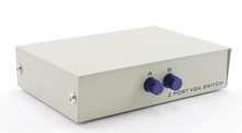 Usa consegna 2 porte vga switch box selector (2 in 1 out, 2 pz a 1 monitor)(China (Mainland))