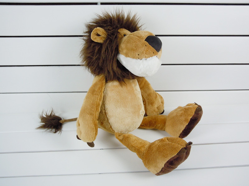 stuffed animal jungle lion about 25cm lion plush toys , one lot/ 2 pieces toys ,party activity gift d0002(China (Mainland))