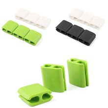 New 6pcs Black White Multipurpose Wire Cord Cable Clips Scattered Organizer Holder #81954(China (Mainland))