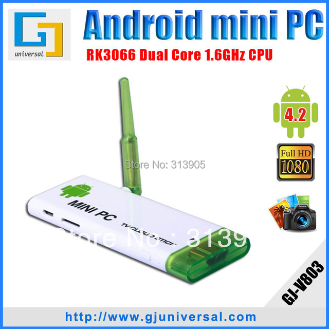 CX803 android mini pc Android 4.2 TV stick RK3066 1.6Ghz Dual core 1G RAM 8G ROM WiFi antenna android tv box Freeshipping