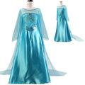 Girls Princess Dresses 2016 Elsa Party Dress Kids Autumn Cosplay Costume Girl Children Clothes vestidos roupas