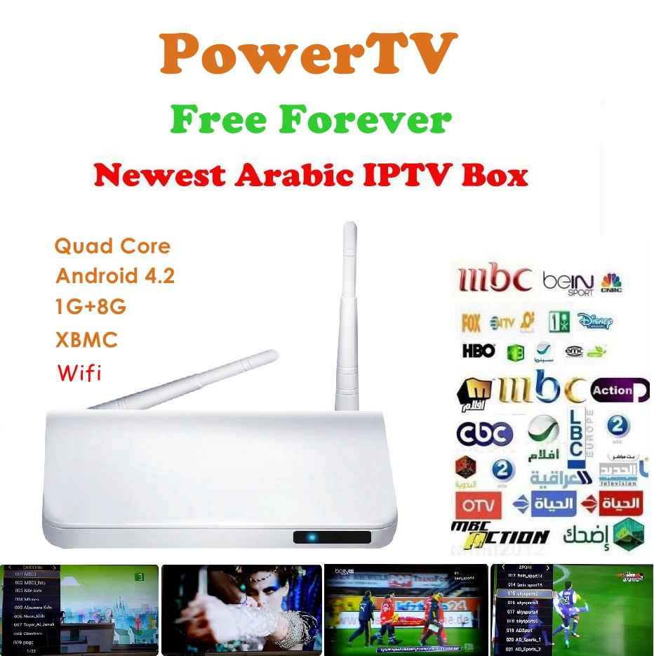 Best Arabic IPTV Android TV Box, No Annual Fee, Free HD Arabic Channels BeIN Sports MBC OSN African Somali French Canal Channels(China (Mainland))
