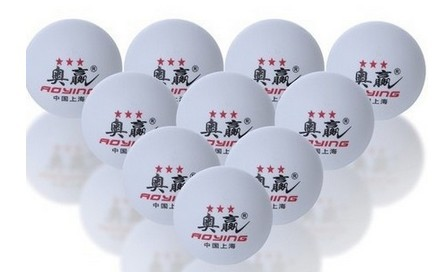 Free Shipping 3-Star 40mm Olympic Table Tennis Balls Ping pong balls 30pcs white(China (Mainland))