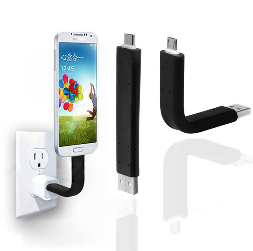 Micro Flexible Support Stand USB Charger Cable Holder Sync Data Transfer Line For Samsung Android Smartphone iPhone 5 5s 6 6s(China (Mainland))