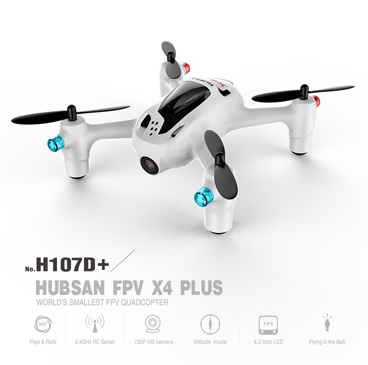 Hubsan FPV X4 X4 Plus H107D+ with 720P HD Digicam 6-axis Gyro RC Quadcopter RTF