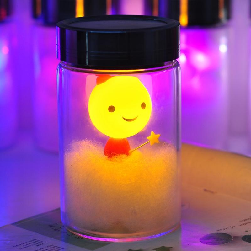 FREE SHIPPING Light romantic solar moonlight jar 61 children's day birthday gift to send her boyfriend and girls practical(China (Mainland))