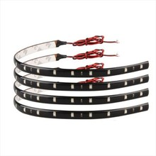10Pcs/lot 30cm blue/green/red/white waterproof Light 5050 12 SMD LED Light High Power Flexible LED Car DRL Decoration Strips(China (Mainland))