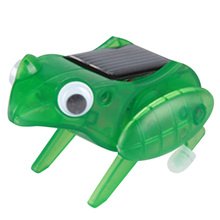 New Arrival Wonderful Gift for Kids 1Pcs Cute Solar Frog Toy for Kids Children Funny Novelty Solar Jumping Frog Toy FCI#(China (Mainland))