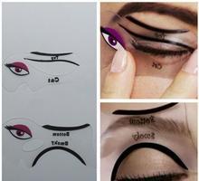 2pcs/lot Cat Eyeliner Stencil Smokey Eye Stencil Makeup Eyeliner Stencils Makeup Tools Free Shipping