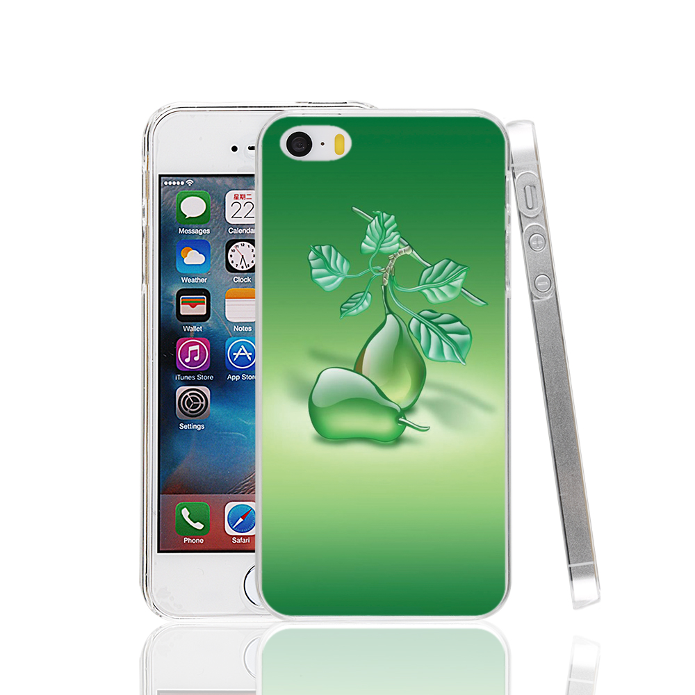 22182 Glass art green pears cell phone Case Cover for iPhone 4 4S 5 5S 5C SE 6 6S Plus 6SPlus(China (Mainland))