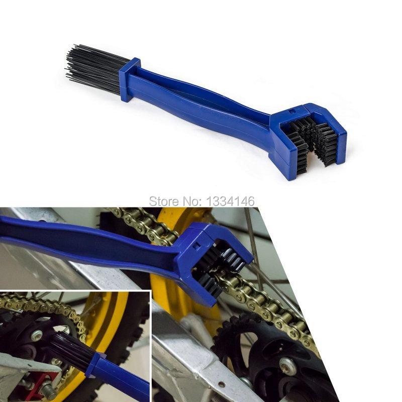 Motorcycle Chian Gear Dirt Clean Brush For Honda Yamaha KTM Kawasaki Suzuki BMW Blue