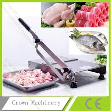 Stainless steel manual Frozen chicken, Fish, meat slicer, vegetable,mutton roll cutter machine(China (Mainland))