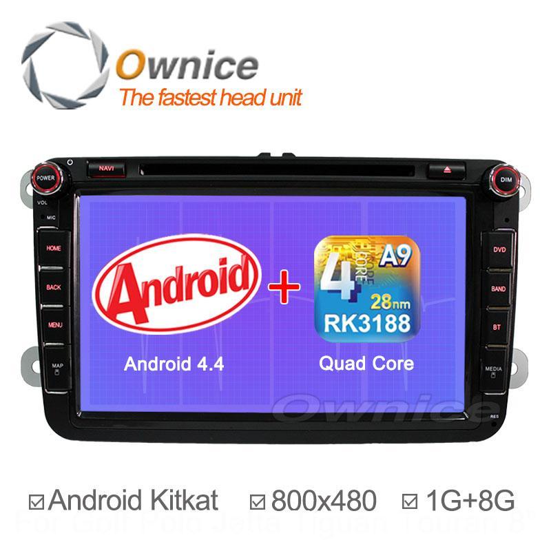 2015 New Android 4.4.2 Car DVD for VW Golf 5 6 Polo Passat Jetta Tiguan Touran Skoda Octavia Seat Altea Leon GPS Radio Quad Core(China (Mainland))