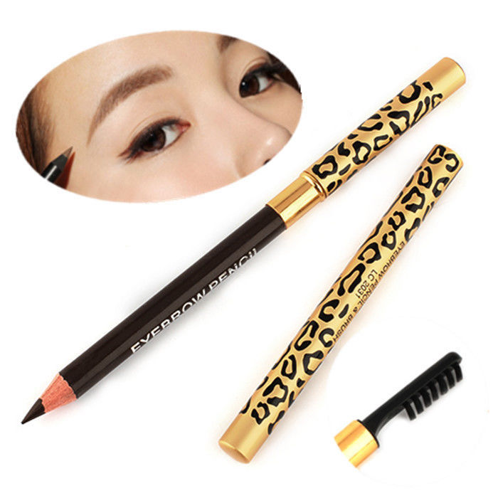Wholesale 1PC Perfect Waterproof Longlasting Eyeliner Double Use Eyebrow Eye Brow Pencil Brush Makeup Free Shipping