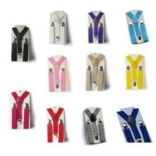 Boys Girls Kid Children Clip on Y Back Elastic Suspenders Slim Adjustable Braces